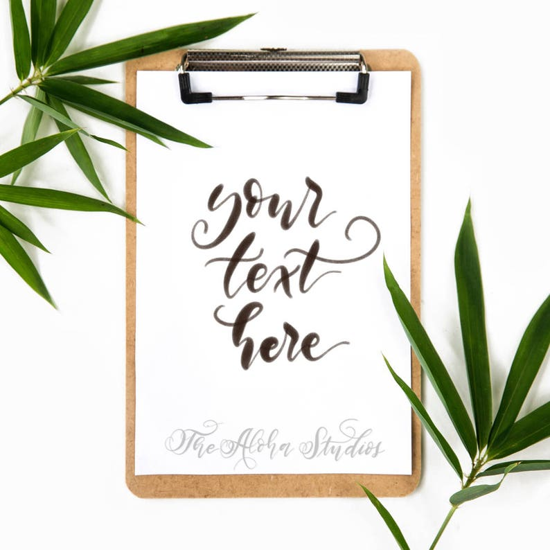 Instagram Lettering mockup / iPad lettering flatlay/ Simple image 0