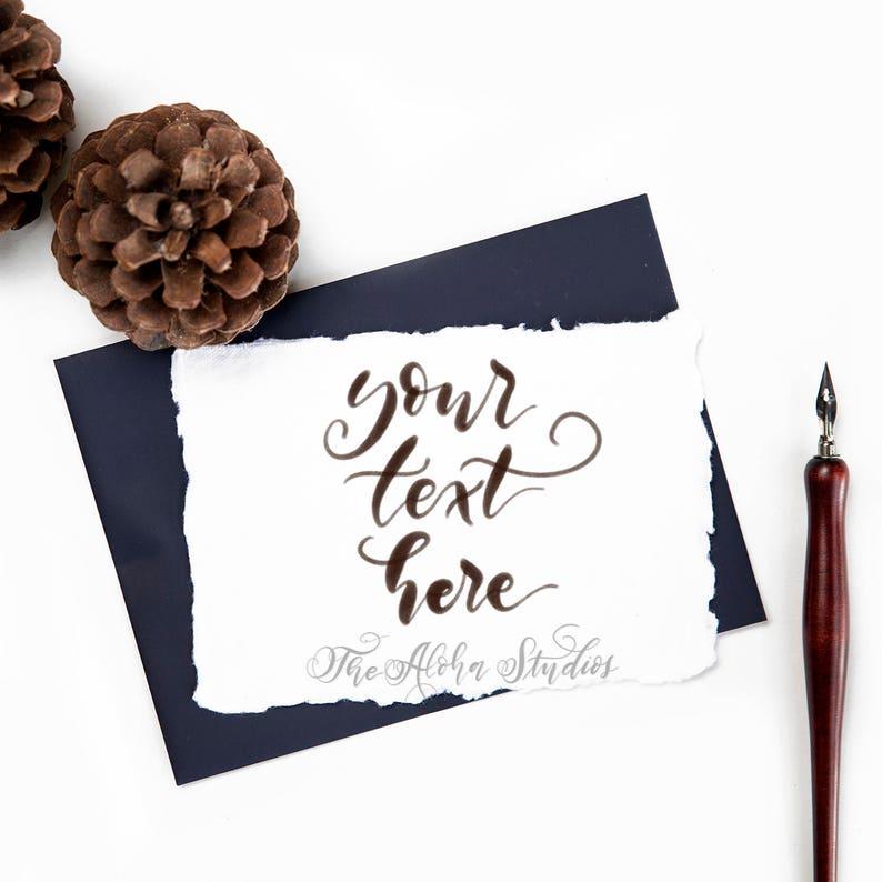 Instagram lettering background / Lettering flatlay / pine image 0