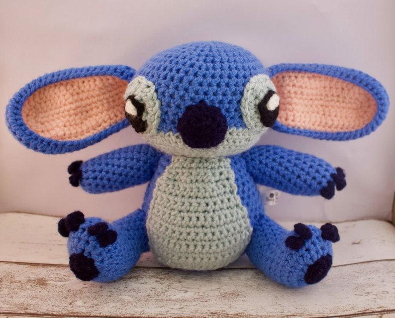 Crocheted Stitch - Lilo and Stitch - Crochet toy - knitted stitch - Gift  for toddler - vegan toys - baby safe - stitch toy - stitch plush