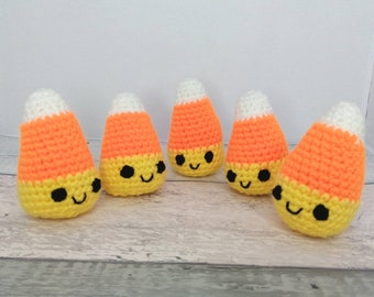 Halloween Crochet Candy Corn - Halloween decorations - Candy corns - Vegan toys-  CE Tested toys - Halloween gift - Childrens Toys