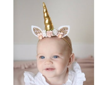 Unicorn headband unicorn birthday newborn unicorn baby  d4b1fa7fc89