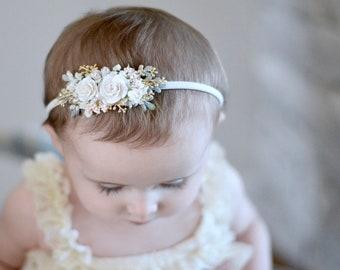 Ivory and white flower headband 5b1b42c940b