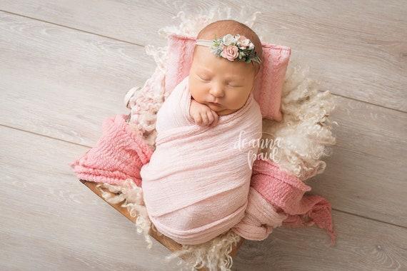 Newborn headband peach headband baby headband blush  2c84357ae8e