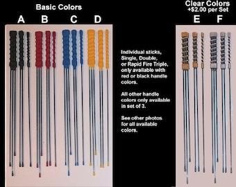 BDSM Evil Stick Suck Stick Pain Wicked Single, Double, & Rapid Fire Triple. Buy One or a Set of 3. Carbon FIBER. PLEASES Read Description.