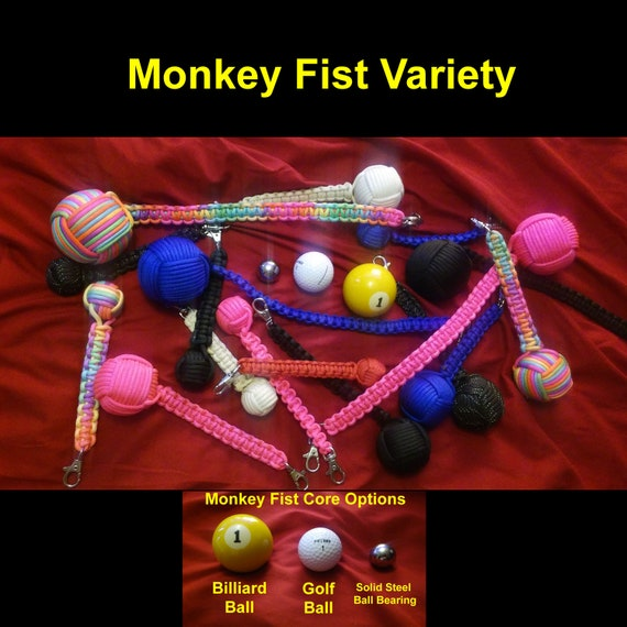 """Five 5//8/"""" Inch Paracord Monkey Fist Steel Ball Bearing Tactical Cores Balls"""