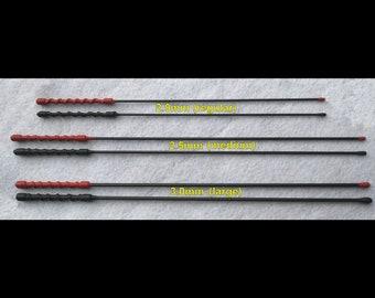Single BDSM Evil Stick Variations - Carbon Fiber Rods - Available w/Optional Impact Bead - 3 Sizes of Rod Diameters.