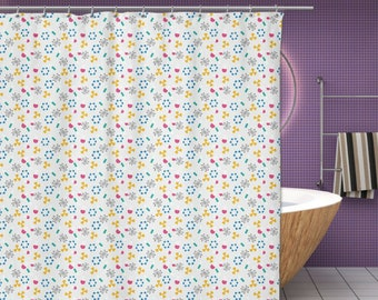 New Science Shower Curtain Atoms Molecules