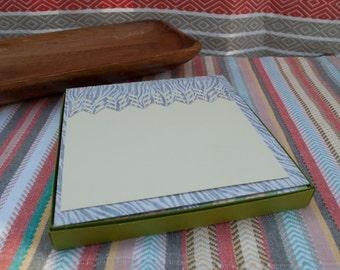 Stationery Set // Square Envelopes and Cards // Handmade Stationery // Box Set