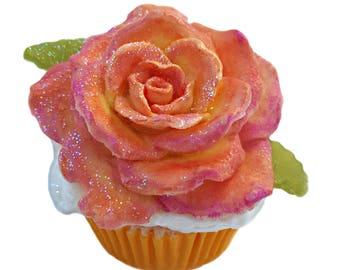 Apricot Freesia Bath Bomb Cupcake- Cupcake Bath Bomb- Bath Bomb- Bath Fizzy- Whipped Soap Frosting- Artisan Soap- Gift For Her- Bath Bombs
