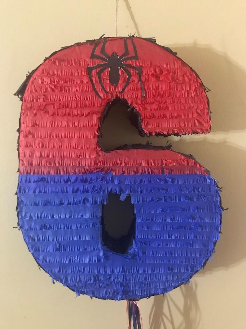 Spiderman Number Pinata