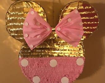 Minnie Mouse With Bow Pinata