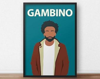 Childish Gambino / Donald Glover Poster Print // Minimalist Print - Inspirational Art - Classroom Poster - Music - Han Solo - Lando