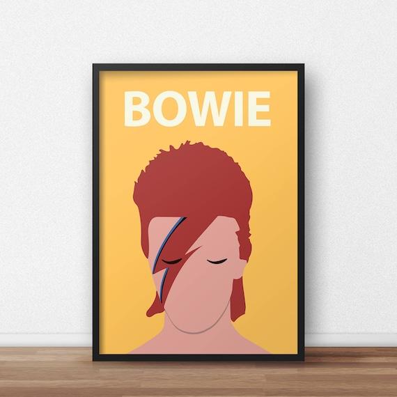 David Bowie / Ziggy Stardust Poster Print // Minimalist Print