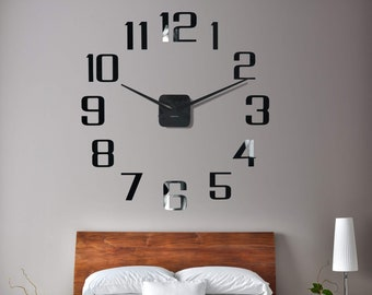 super large wall clock 100 130 cm 40 50 in bedroom clock silent giant clock super big clock big numbers wall clock large umbers clock - Bedroom Clock