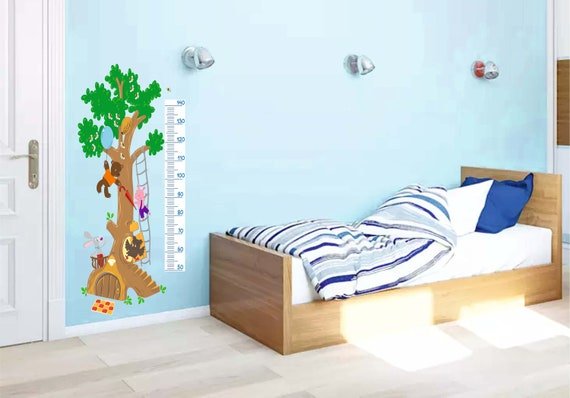 Winnie The Pooh Height Chart Decal Children Wall Decals Growth Etsy