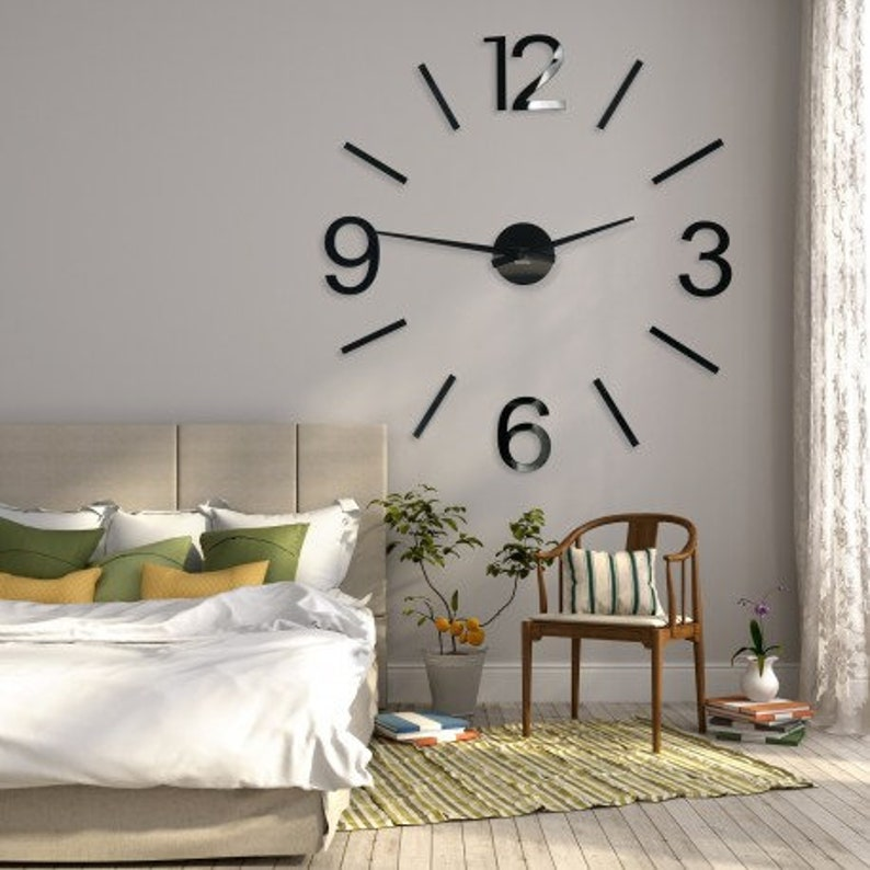 Extra Large Wall Clock 100 130 Cm 40 50 In Bedroom Etsy