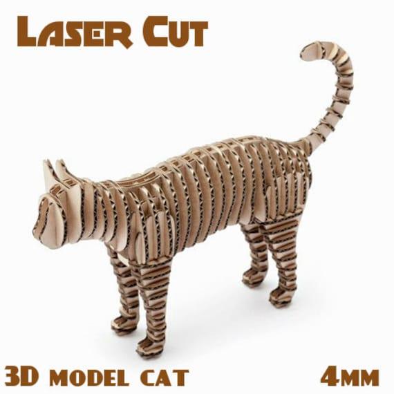 Katze Spielzeug Dekor Cnc Laser schneiden Datei Vorlage   Etsy