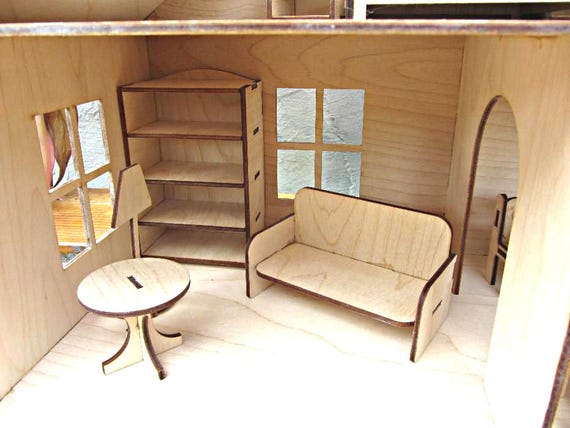 Dollhouse Anastasia Furniture . Vector Model For Laser Cut. | Etsy
