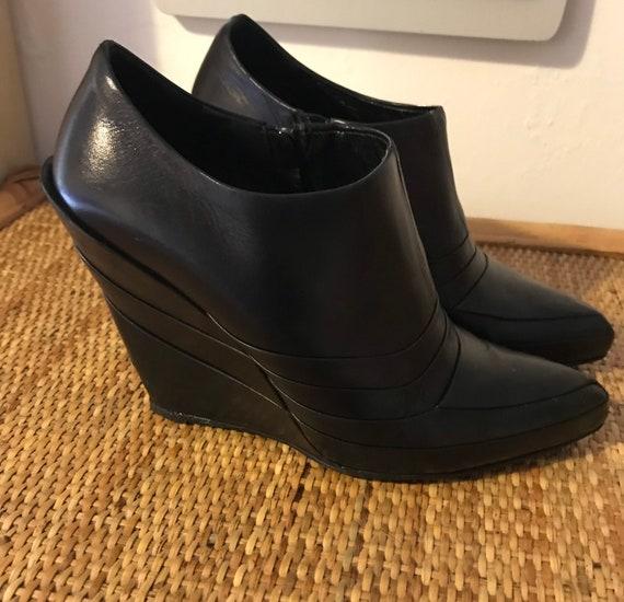 Mui mui wedge heels futuristic