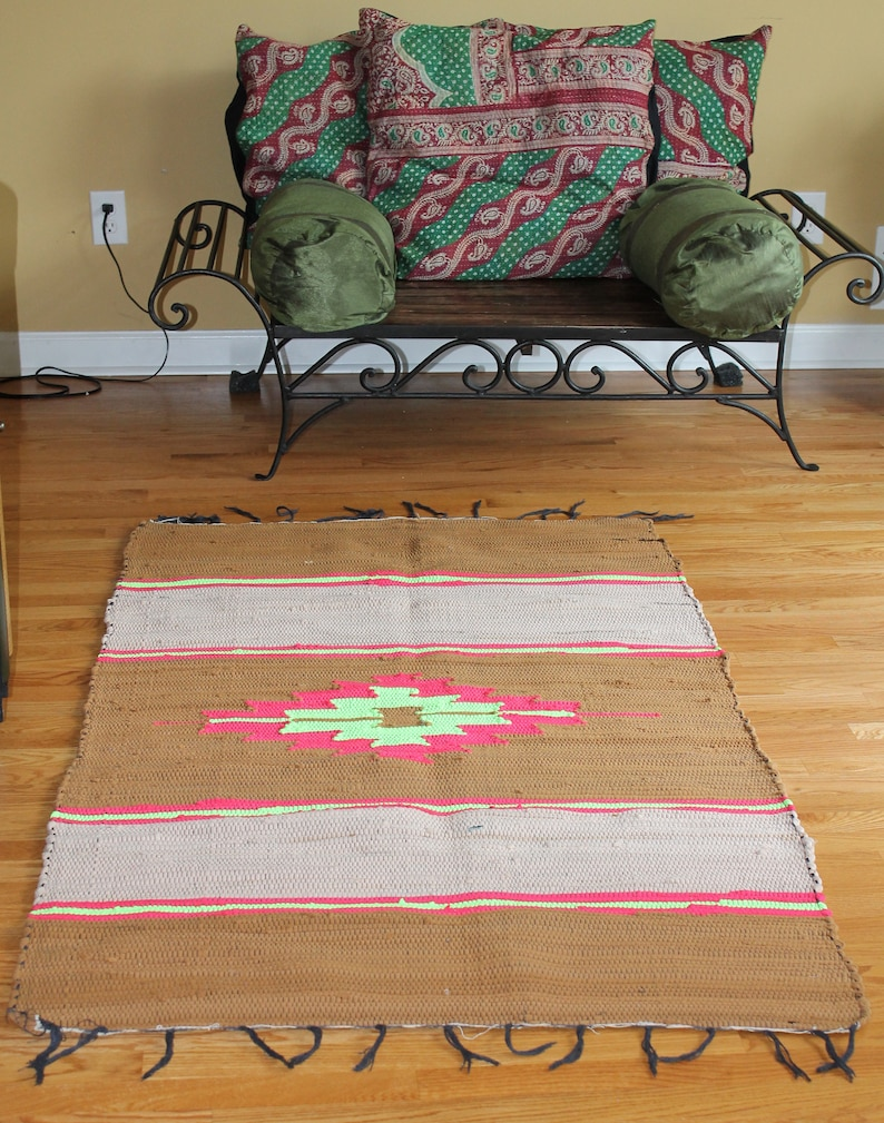 Marvelous Clearance Vintage 3 2X5 5 Feet Washable Dhurrie Rug Southwestern Navajo Aztec Rug Sofa Throw Wall Hanging Picnic Rug Wall Hanging Dailytribune Chair Design For Home Dailytribuneorg