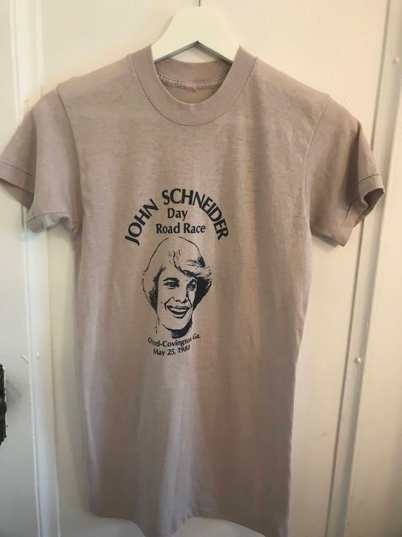 Vtg John Schneider Dukes Of Hazzard T-Shirt Transfer NOS