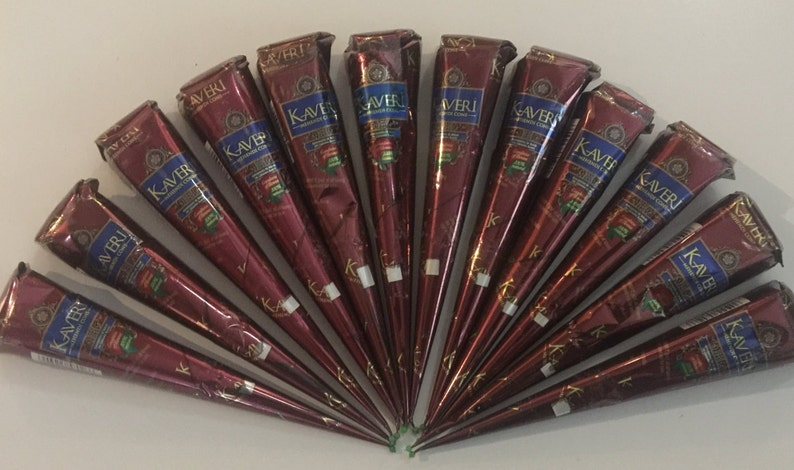 FREE SHIPPING from US Natural Herbal Henna Cones Temporary image 0