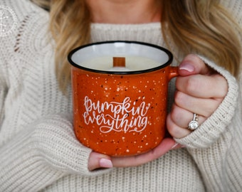 Campfire Candle | Pumpkin Everything | Campfire Mug | Wood Wick Candle | Fall Mug | Fall Candle | Christmas Gift | Fall Soy Candle | Autumn