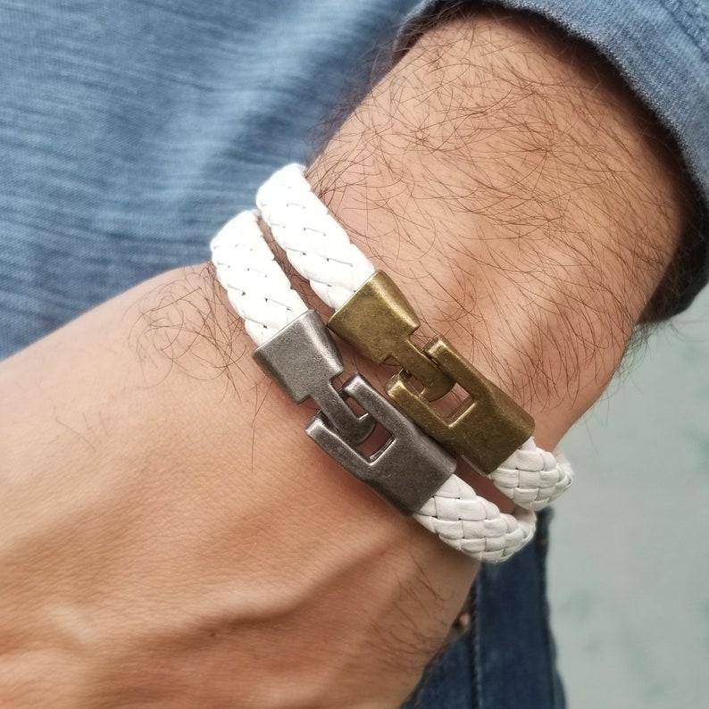 Man Bracelet Mens Leather Bracelet Bracelet for Man Men Leather Bracelet Leather Bracelet Braided Bracelet Mens Bracelet Gift for Men