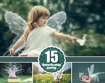 15 magic Wings Photo Overlays, Photography Overlays, Photography Photo Prop, magic fairy fantasy wight wing, png file