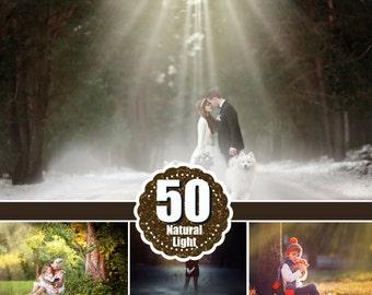 50 Natural Light Photoshop Overlays, sun overlays, light overlay, lens flare overlays,fantasy overlays, Natural Sun, Sunlight, png file
