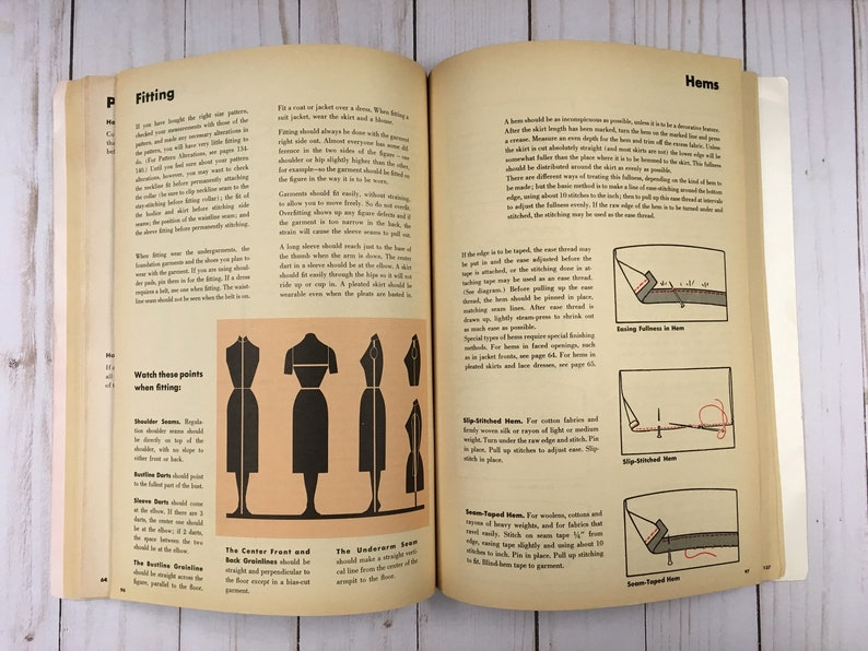 Simplicity Sewing Book 1958 vintage style great graphics and some color photos junk journal sewing journal collage mixed media supplies