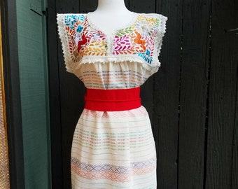 Embroidered Dress Fiesta Dress Mexican Dress Vestido Etsy