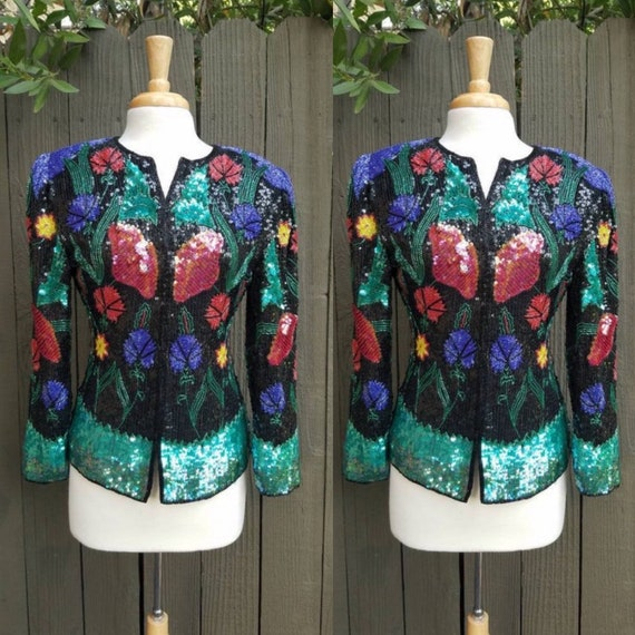 100% Silk Embroidered jacket