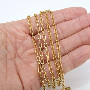 Necklace Chain 9mm x 11mm Metal Unfinished Chain PCH02 Oval Cable Chain Gold Silver Bronze Jewelry Making