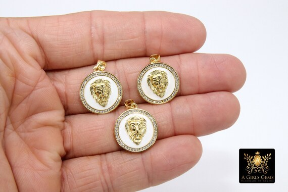 CZ Micro Pave 18 k Gold Plated Cubic Zirconia Key Pendant Lion Key Charm Tiger Dangle Pendant for Necklace Key Charm