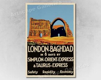 ORIENT EXPRESS London..Paris..Venice Vintage Travel//Rail Poster 2 A1A2A3A4 Sizes