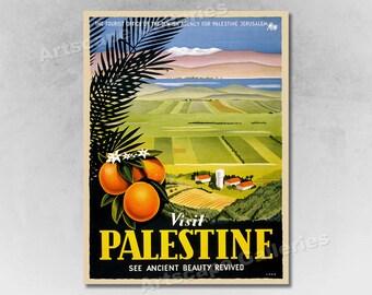 1901 Nile /& Palestine Egypt Tours Vintage Style Travel Poster 24x36