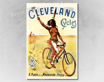 16x24 Elvastre 1940s Vintage French Cycling Advertising Poster Elira Elva