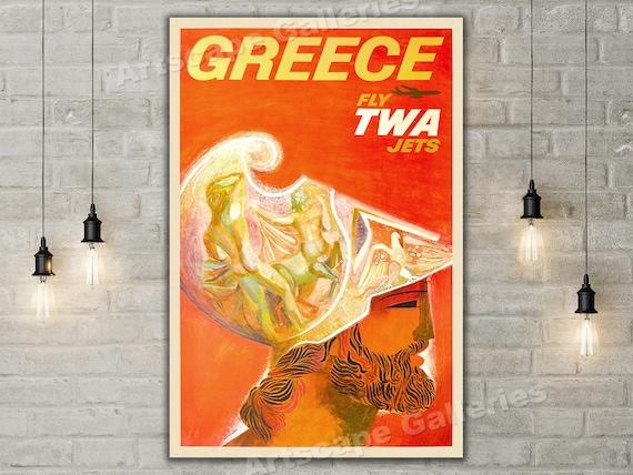 1920 La Riviera Italienne Vintage Style Italian Travel Poster Art Print 24x36