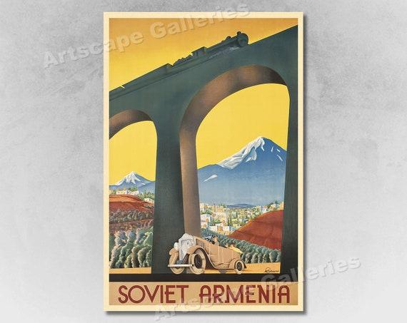 VINTAGE SOVIET ARMENIA RUSSIAN TRAVEL A3 POSTER PRINT