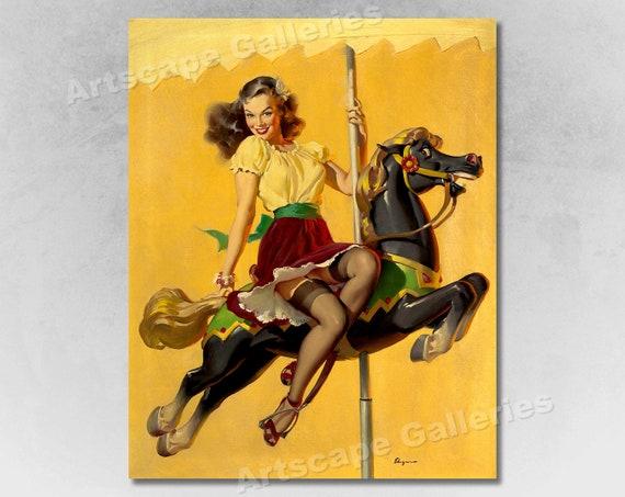 "16x20 1940/'s Elvgren Dancing Girl Pin-Up Poster /""Ballerina/"""