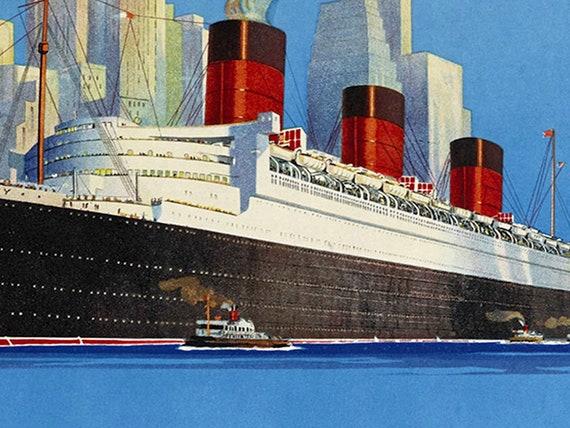 1900 Hamburg-America Line Vintage Style Ocean Line Travel Poster 18x24
