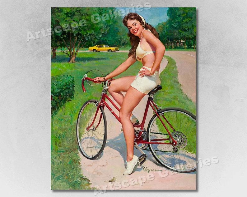"16x20 1958 /""It/'s a Snap/"" Vintage Style Elvgren Slingshot Pin-Up Girl Poster"