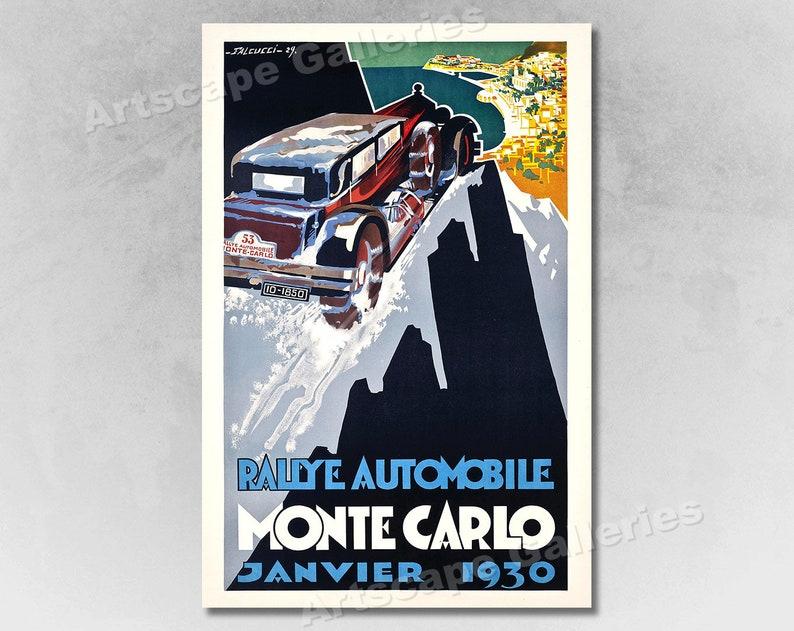Vintage Style Travel Poster Monaco 1920s Monte Carlo Tennis 20x30