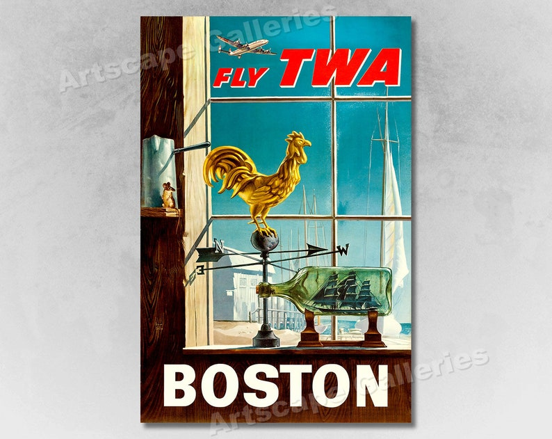 20x30 1960 Spain Fly TWA Bullfighter Vintage Style Travel Poster