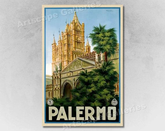 24x36 1927 Taormina Sicily Vintage Style Italian Travel Poster