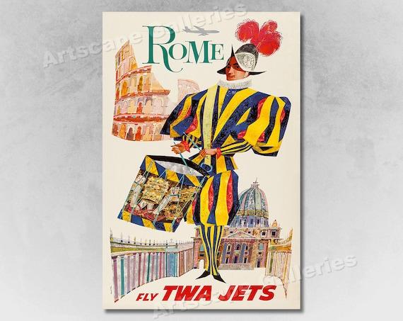 16x24 Visit San Francisco 1950s Vintage Style Airline Travel Poster