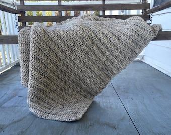 Pattern: Cozy Textured Blanket // Easy Crochet Pattern // Large Oversized Throw // Beginner