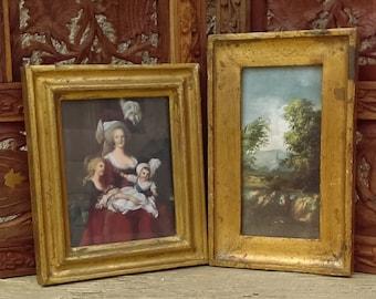 Vintage Italian Florentine Picture Frames Maria Antonietta Landscape
