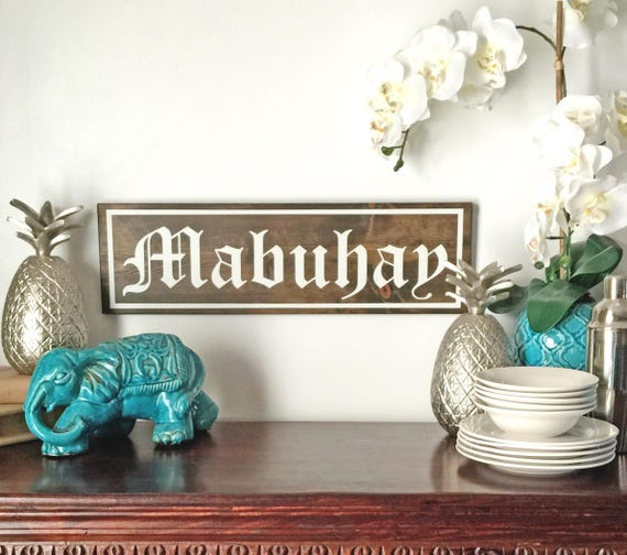 Filipino Home Decor: Mabuhay Filipino Home Decor Filipino Salutation Wood